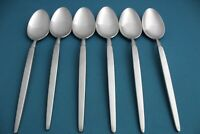 """6 Place Oval Soup Spoons Dalton WINDRIM Stainless Stanley Roberts Japan 8"""""""