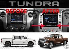 (2) Silver Metallic Vinyl Inserts For 2014-2017 Toyota Tundra Radio Bezel New