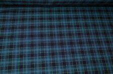 Hosenstoff Viskose-Mix Stoff blau Karo Kleiderstoff Meterware #03123