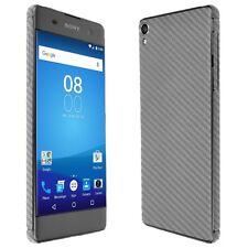 Skinomi Silver Carbon Fiber Skin+Clear Screen Protector for Sony Xperia XA
