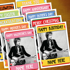 BOB DYLAN Personalised Card ANY OCCASION - xmas, romantic, holiday, personalized