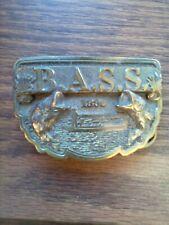 New listing Bass 1990 Brass Belt Buckle