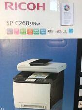 S0223228 405107 Laser Printer Ricoh Sp260sfnw 20 IPM 2400 DPI WiFi Fax White Bla
