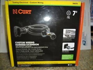 Curt 56070 7' Custom Wiring Harness Extension 2019 Chevy/Ram/Ford