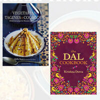 Vegetarian Tagines & Cous Cous and The Dal Cookbook Collection 2 Books Set
