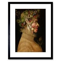 Painnting Fruit Vegetable Wheat Giuseppe Arcimboldo Summer Framed Art 12x16 Inch