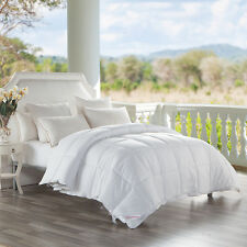 1000TC Goose Down Feather Comforter,White Stripes.King Size.100%Cotton