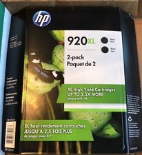 HP 920XL Black Ink Cartridges - 2-Pack EXP 01/2019 New in SEALED Pkg. EXP 8/19