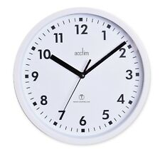 Acctim 74662 Nardo Radio Controlled White Wall Clock 20cm Diameter