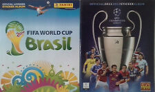 ALBUMS PANINI CHAMPIONS LEAGUE 2011/2012 + BRASIL 2014 WORLD CUP NEUF EMPTY