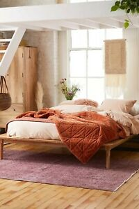 Urban Outfitters Amelia full-size Mango Wood platform style bed frame, very nice