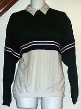 Puritan Vintage 70's-80's Collared Pullover Sweatsshirt w/Pocket Mens Large