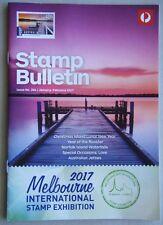 Australia Post Stamp Bulletin Issue No. 344 Jan - Feb 2017 Melb I'ntl Exhibition