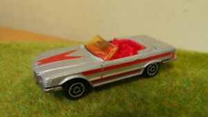 MAJORETTE NO 213 MERCEDES 350 SL SILVER RED FLASH STUNNING UNBOXED EXAMPLE