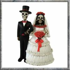 Eternally Yours Skeleton Married Couple Statue Figure Sculpture Ornament Wedding