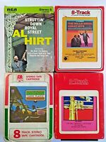 8 Track Tapes Herb Alpert Al Hirt Mills Bros And Big Band Lot Of 4 Jazz Untested