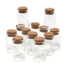Clear Glass Spice Jar Corked Favor Bottles, 3-Inch, 12-Count