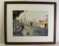 S.Toda ORIGINAL Watercolor Painting CITYSCAPE