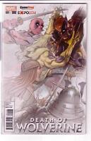 BIN DEATH of WOLVERINE 1 Gamestop EXPO FADE Variant NM 1-3000 Deadpool Greg Land