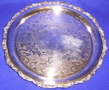 Silverplate Tray with Ornate Edging - SHIPPING INCLUDED