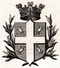 Stemma del Comune di SPILIMBERGO nel 1905. Pordenone. Friuli-Venezia Giulia