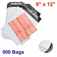 New listing 500 9x12 Poly Mailer Shipping Mailing Polybag Envelope Self Sealing Bags 2.5 mil