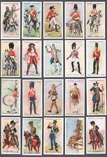1912 John Player & Sons Regimental Uniforms Tobacco Cards Complete Set of 50