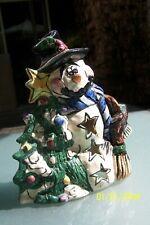 Blue Sky Clayworks Heather Goldminc Snowman Christmas