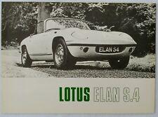 1968 Lotus Elan S.4 Original Sales Brochure S4 Prospekt