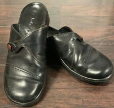 Clarks Womens Black Leather Mules Size. (7M)