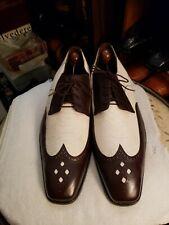 Belvedere Genuine Ostrich & Leather Men Dress Shoes Sz 10-M