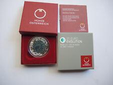 """25 Euro Österreich Silber NIOB Hgh """" Evolution """" 2014"""