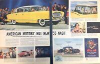 1955 Nash Ambassador Vintage Advertisement Print Art Car Ad Poster LG77