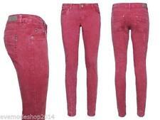 Damen-Röhrenjeans aus Denim mit niedriger Bundhöhe (en) Hosengröße XL