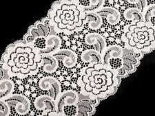 ELEGANTE Schwarz SPITZE elastisch Borte Lace 22cm breit MODE N13 NiM