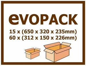 15 x BIG Shipping Boxes 65cm x 32cm x 23.5cm + 60 inner shipping boxes - COMBO