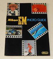 NIKON EM photo Guide de 36 pages - Guide Conseils + Liste Optiques NIKON