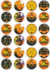 Happy Halloween Bat Edible Cup Cake Toppers on 24 x Edible Cup Cake Cupcake