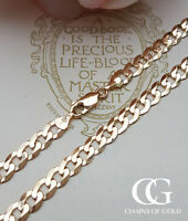 Men's Chunky 9ct Yellow Gold 7mm Diamond Cut Curb Chain Necklace 20″ 22″ 24″