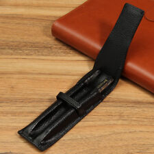 Leather Case Fountain Pen For Two Pen Storage Bag Pencil Pouch Holder Gift Black