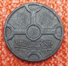 Netherlands 1 Cent Coin, 1942, Zinc
