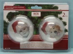2 x Weihnachtskugel Transparente Acrylkugel Kugel individuell für Foto
