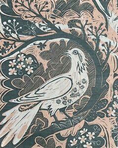 Cotton fabric remnant - Mark Hearld - St Judes fabric.