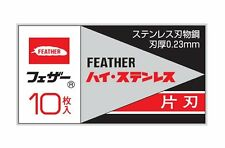 JAPANESE FEATHER High stainless steel Single Edged Razor blade 10pcs from JAPAN