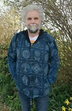 Men and Women's Fleece Lined Stonewash Jacket, Om, Ganesha, Tree of life, Buddha