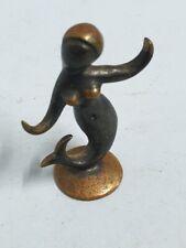 Antique Bronze Sculpture Female Figure Mermaid