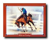 Western Cowboy Rodeo Horse Riding Wall Decor Art Print Poster (16x20)