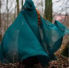 Wedding Cloak Hooded Bolero Women Bridal Capes Chiffon Long Coat Teal Shawl
