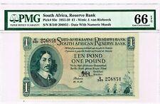 South Africa: 1 Pound 18.11.1958 Pick 93e. PMG Gem Uncirculated 66 EPQ.