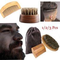 Poils barbe brosse peigne de coiffure kit brosses pour le visage du visage